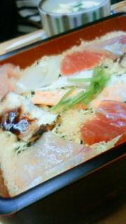 寿司屋で一杯。