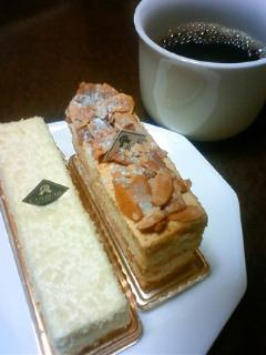 昨日のケーキ。